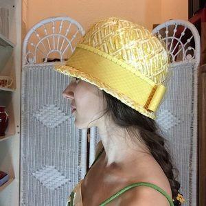 Lemon Yellow Mod 60's Bucket Dome Hat